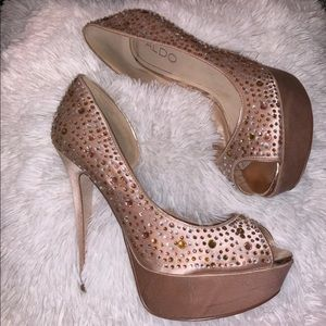 ALDO CRYSTAL STUDDED SPARKLED PUMP